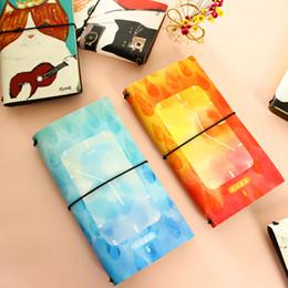 Cuenta de la cubierta online-Corea del sur cuaderno de cuero A6 tapa página literaria mano cuenta calendario diario de eficiencia