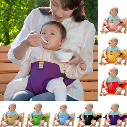 Wholesale Outdoor Baby Toys - Portable Dining High Chair Booster For Kids Baby Outdoor Sport Safety Seat Strap Harness Dining Seat Belt Toy DDA393