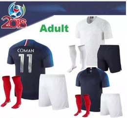 Wholesale Fr S - 2018 World Cup Fr adult Soccer Jerseys Home blue Away white MBAPPE GRIEZMANN LACAZETTE MARTIAL GIROUD JERSEY 18 19 FR FOOTBALL SHIRTS
