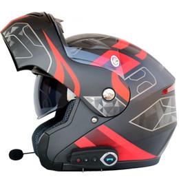 Flip up Motorradhelm Mann Frauen Dual Visier mit inneren sonnigen Schild Moto Helme Bluetooth Headset Helm mit FM Radio von Fabrikanten