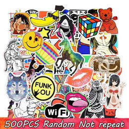 Wholesale Style Laptops - Diy stickers posters wall stickers for kids rooms home decor sticker on laptop skateboard luggage wall decals car sticker 500pcs