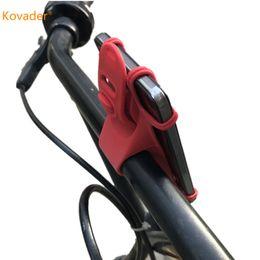 Teléfono celular antideslizante online-Kovader Anti-Slip Bike Phone Holder Bicycle Handlebar Mount Elastic Durable Silicone Band Bicicleta Ciclismo Clip CellPhone Soporte