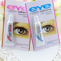 Wholesale Lash Adhesive Glue - Eye Lash Glue Black White Makeup Adhesive Waterproof False Eyelashes Adhesives Glue White And Black Available 3001131