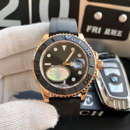 Наручные часы купить онлайн-Золото Каучук браслет Oyster-устрица Flex 40 мм керамический безель мужские часы 116655 стали 904l швейцарские механические автоматические наручные часы