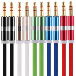 2018 caramelo pc Car Aux Aux Cable de audio estéreo auxiliar 1 m 3 pies Candy colores Aux cables para iphone ipod mp3 pc altavoz de auriculares rebajas caramelo pc