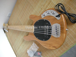 Wholesale Musicman Guitars - Factory custom shop 2015 Newest Musicman Sting Ray 5 Strings Natural Wooden Bass guitar 7 6
