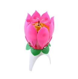 Canada Incroyable Romantique Musical Lotus Fleur Joyeux Anniversaire Parti Cadeau Musique Bougie Livraison Gratuite Offre