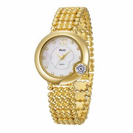 Wholesale Water Resistant Watch China - BELBI Luxury Women Watches Exquisite Big Diamond Dial Alloy Female Quartz Wristwatches Top Quality waterproof Women China Brand ladies fash