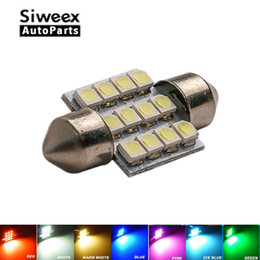 Discount smd led car auto - 31mm 3528 1210 SMD 12 LED Car Auto Festoon Dome Interior Map Lights Bulb Lamp for DC 12V Blue Green Yellow Red