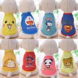 Wholesale Anime Cloths - Small Pet Dog Clothes Fashion Costume Vest Puppy Cat T-Shirt Summer Apparel Mesh Cloth Anime Pet Clothing