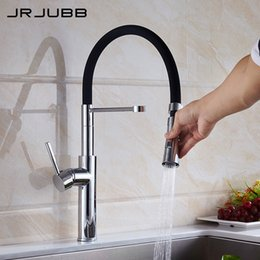 Wholesale Flexible Faucet - Pull Down Kitchen Sink Faucet Chrome Brass Flexible Kitchen Faucet Two Water Mode Deck Mounted Mixer Sink Tap