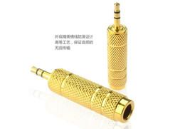 3,5 мм мужчин и 6,5 мм женский адаптер 3,5 штекер 6,5 Джек стерео аудио адаптер для микрофона наушники AUX кабель конвертер золото 2018 от