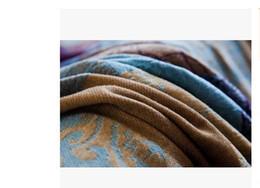 Wholesale Plaid Living Room - Bohemian Geometric Striped Sofa Towel Blue Plaid Decorated Sofa Blanket Fashion Chair Sofa Cover for Living Room Chenille ThreadAEI-395