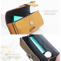Wholesale Vaporizer Bags - Original iQOS PU Leather Case Vape Box Holder Pouch Bag Fit Vaporizer iQOS Kit with Magnet Button 2 Colors Accessories DHL Free