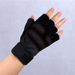Wholesale sports training equipment - Semi Finger Gloves Unisex Motion Weightlifting Wrist Guard Non Slip Camping Equipment Training Breathable Sports Fitness Mittens 14fq bbWW