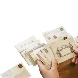 FangNymph Yeni Satış 12 adet / grup 12 Tasarımlar Mini Sevimli Ancien Kağıt Zarf Retro Vintage Avrupa Tarzı Kart Scrapbooking Hediye Için nereden