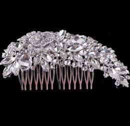 Wholesale Hair Combs For Weddings - 2018 Crystal Wedding Hair Accessories Fashion Hair Combs Bridesmaids Tiara Trendy Hair Clip For Women Headwear