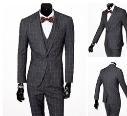 Wholesale Formal Dress Coat For Men - Blazer men formal dress latest coat pant designs suit men business casual popular grid marriage wedding suits for men's fashion