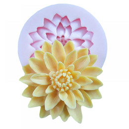 Wholesale silicone mould resin - Acrylic resin flower silicone mold fondant molds cake decoration sugarcraft chocolate mould soap candle molds cake decoration