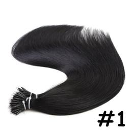 """2019 qualidade eu inclino extensões de cabelo Hetero Micro Contas Remy Nano Ligações Anel Extensões de Cabelo Humano Duplo Desenhado 16 """"-24"""" 1.0g / s 50g 100g Muitas Cores Disponíveis"""
