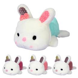 Wholesale Random Bear - 20cm Cute Bowknot Rabbit Little Bunny Plush Toys Small Stuffed Animals for Baby Girls Birthday Gift Random Color