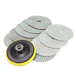 Wholesale Polish Marble - Freeshipping Best Price 10Pcs lot Wet Dry 4 inch Diamond Polishing Pad For Granite Stone Concrete Marble New Arrival