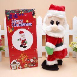 Wholesale Christmas Electric Santa - Cute kids lovely Christmas electric toy Santa Claus dance with sound toys funny navidad christmas decorations navidad gifts