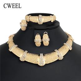 Wholesale dubai accessories - CWEEL Fashion Dubai Jewelry Sets For Women Classic Turkish African Beads Jewelry Set Wedding Costume Jewelry Choker Accessories