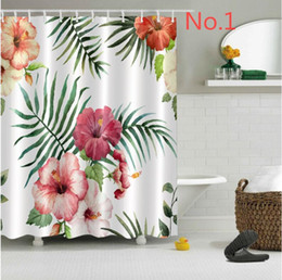 Wholesale Modern Textile Design - Personal Customed Flower 3D Design High Resolution Photography Home Bathroom Textile Environmental Print Fabric Shower Curtain