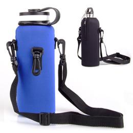 Wholesale Fibre Case - Reusable Sport Water Bottle Cover Insulator Bag Case Pouch Washable Travel Kettle Bottle Case For 1000ML Outdoor Gadgets 11jy X