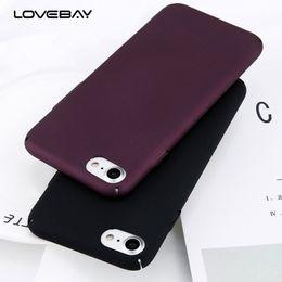 Canada Cas de téléphone pour iPhone 6 6s 7 8 Plus simple vin rouge givré mat PC couverture arrière cas pour iPhone X 8 7 6 5 5s SE Offre
