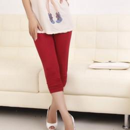 Wholesale Pregnant Women Trousers - Solid Color Pregnant Women Pants Elasticity Cotton Casual Capris Pant Trousers