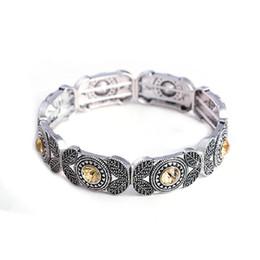 Deutschland Mode Vintage Antik Silber Armbänder Armreifen stretch Armband Retro Kristall Türkei Schmuck für Frauen cheap turkey bracelets silver Versorgung