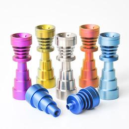2019 bohren führen 6 in 1 Domeless Titanium Nail Titan GR2 Nägelverbindung 10mm 14mm und 18mm Glas Bong Wasserpfeife Glasrohre Universell und praktisch