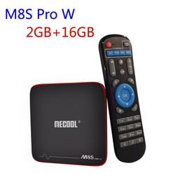 atualização de caixa de tv android Desconto Amlogic S905W Android 7.1 CAIXA de TV 2 GB 16 GB MECOOL M8S PRO W Caixa de Streaming Suporte 4 K H.265 HDMI Wifi Atualização OTA Smart Media Player