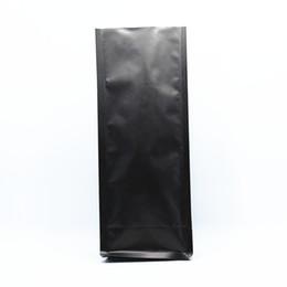 Órgão negro on-line-11 * 27 + 7.5 cm 20 Pçs / lote Aberto Top Matte Preto Puro Folha De Alumínio Organ Storage Bags Para Noz Chá Pacote de Lanche Vedação De Calor Mylar Bolsa