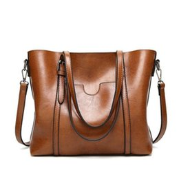 Wholesale Plain Ladies Tops - Solid Color Simple Lady Bag Women Top Handle Girls Satchel Female Handbags Ladies Shoulder Bag Fashion Girl Tote Purse Soft Bags