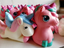 Wholesale Soft Pony - 2 Styles Pony Horse Squishy Cartoon Soft Toys Scent Toys Slow Rising Squeeze Jumbo Squishies