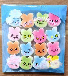Wholesale Pc Restore - New 20 PCS Kawaii Squishy Rabbit Bunny Restore Slow Rising Toy Emoji Phone Bag Key Straps