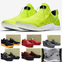 Wholesale Coloured Shoes - 13 Colours 2017 New Mens KOBE A.D. NXT 12 men KB Volt White Black AD WOLF GREY Zoom Sport Shoes,discount Cheap Basketball Shoes