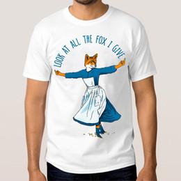 2019 nuevos hombres miran camisas Look At All The Fox Doy una camiseta divertida de algodón para hombre de camiseta nuevos hombres miran camisas baratos