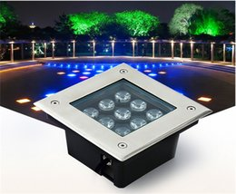 Wholesale Ac Deck - Wholesale LED Underground Light Sqaure 3W 4W 5W 6W 9W 12W 16W 24W 36W IP67 110-240V Deck inground outdoor Garden Lights landscape lamp