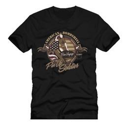 Deutschland AMERICAM BOMBshell Bombe Pin Up Soldat retro Armee Flugzeug Dtg Mens T Shirt T-Shirts Cool Casual Stolz T Shirt Männer Unisex New Fashion Tshirt supplier plane pins Versorgung