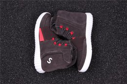 Wholesale Brown Suede Ankle Boots Flat - 750 BOOST LBROWN CWHITE LBROWN MARLEG BLACRA MARLEG Kanye West Shoes Boosts 750 Men Sport Sneakers Outdoor Boots Season Shoes