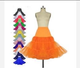 Wholesale Plus Size Crochet Skirt - Cheap 2018 Short Wedding Petticoats Organza Bridal Underskirt Slip Women A-Line Crinoline Skirt TUTU Plus Size Bridal Accessories
