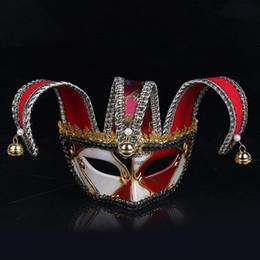 2020 mascarillas de alta moda Máscara de la máscara veneciana de la moda de plástico para el payaso de Halloween media cara máscaras de fiesta de exquisito Reuable fuentes de alta calidad 30wp BB mascarillas de alta moda baratos