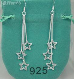 Wholesale steel pandora charms - New 2018 Women Luxury Brand Jewelry Designer Earrings Original box For Pandora tiffan925 Sterling Silver Crystal Diamond Womens Stud Earring