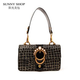 3debeb0c0524f5 boho bags Promo Codes - SUNNY SHOP Sequined Bling Stone Pattern Chain Women  Messenger Bag Fashion