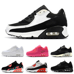 Argentina Nike air max 90 2018 Infant Baby Boy Girl Kids Juvenil Niños 350 zapatos Zapatos deportivos para correr Pirate Black classic 90 Sneakers eur 28-35 supplier baby sports shoes Suministro