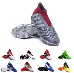 Wholesale football shoes sale - Neymar Mens Soccer Shoes Predator 18+x Pogba FG Accelerator DB Man Soccer Cleats Design Football Cleats Real Madrid Special Offers and Sales